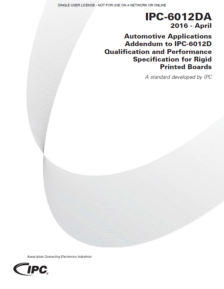 【車載】IPC-6012DA: Qualification and Performance Specification for Rigid Printed Boards -Automotive Addendum-