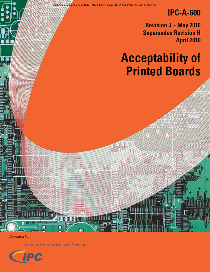 【英語】IPC-A-600J EN Acceptability of Printed Boards