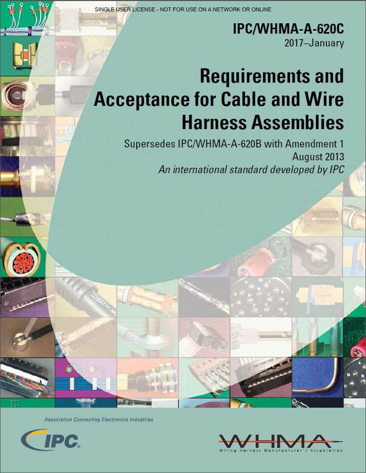 【英語】IPC-WHMA-A-620C EN: Requirements and Acceptance for Cable and Wire Harness Assemblies